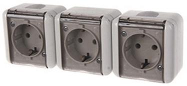 Штепсельное соединение REML 229307200 Triple Socket Transparent