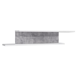 Forte Canmore Wall Shelf Grey/White CNMH01