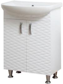 Vannas istabas skapītis Sanservis 3D-60 with Basin Arteko-60 White 60x84.5x44cm