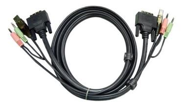 Aten 2L-7D03UI KVM Cable DVI-I, USB, 3.5 mm