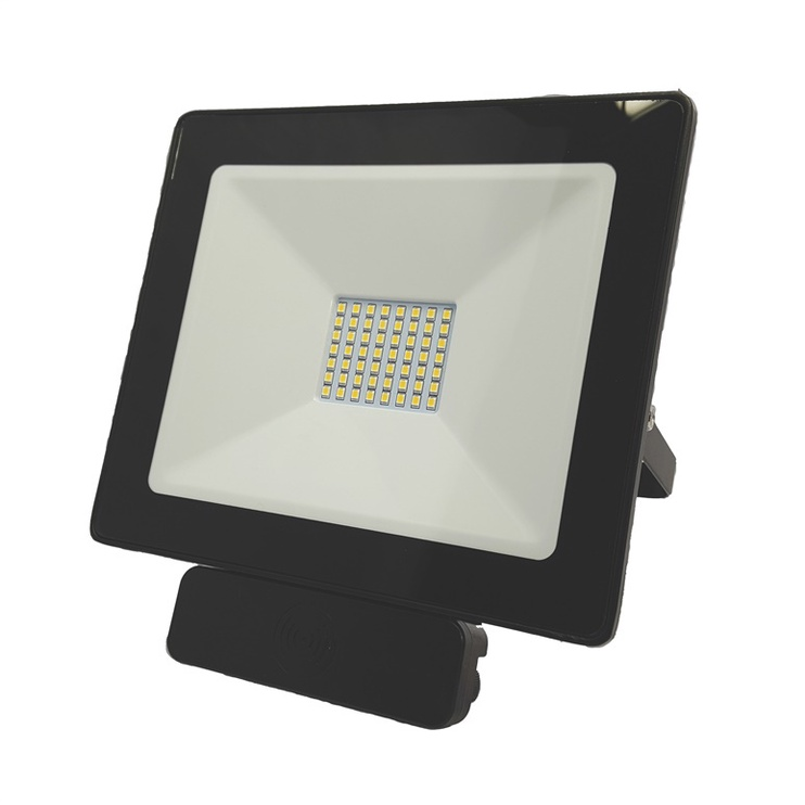Tope Toledo 1x50W LED Black Outdoor Spotlight with Motion Sensor