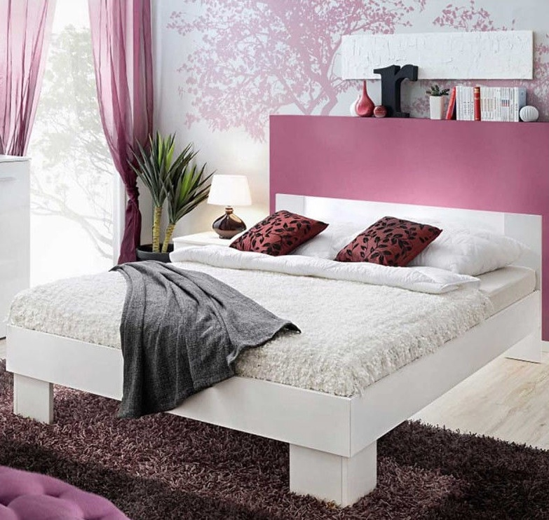 ASM Vicky Bed 180 White