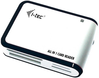 I-Tec USB 2.0 All-In-One Memory Card Reader White/Black