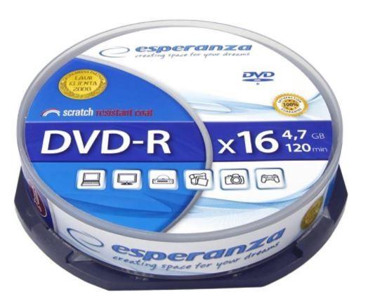 Esperanza DVD-R 4.7GB 16x 10pcs