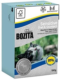 Mitrā kaķu barība (konservi) Bozita Sensitive Diaet & Stomach Wet Food 190g