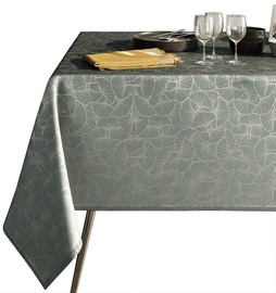 AmeliaHome Oxford Tablecloth AH Ginkgo Steel 110x160cm