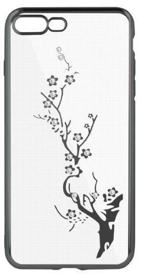 Beeyo Glamour Series Branch Back Case For Samsung Galaxy S8 Plus Transparent/Grey