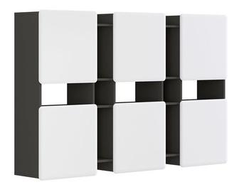 Black Red White Possi Light SFW6D 180x115x32cm Grey/White