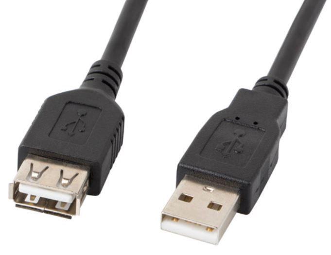 Lanberg Cable USB to USB Black 0.7m