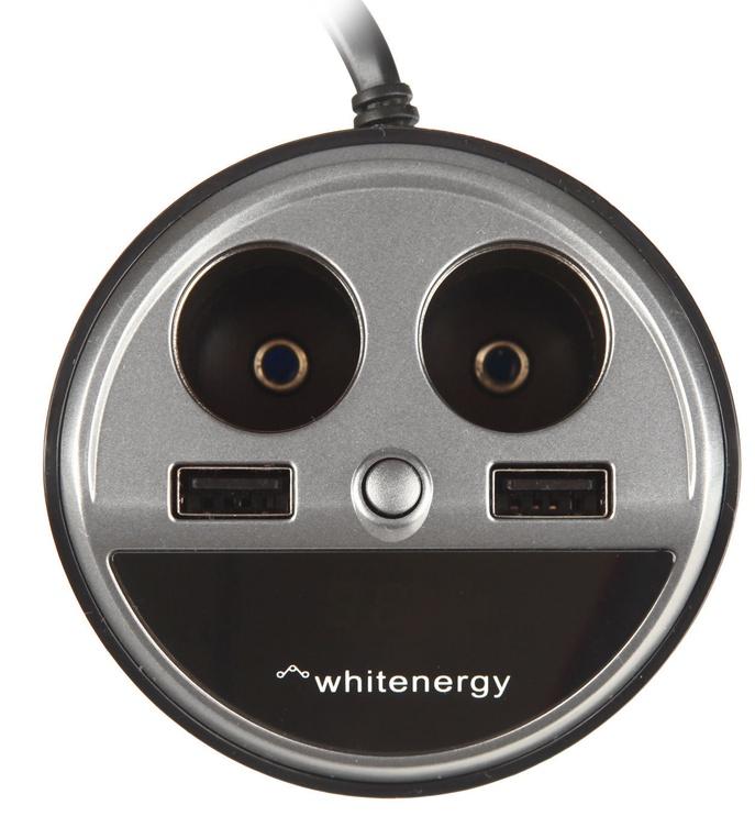 Whitenergy Car Charger USB x2/CS x2 Blue