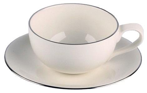 Krūzīte ar apakštasi Quality Ceramic Sense Platinum Espresso 23cl 15cm
