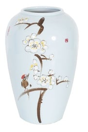 Vāze Home4you Yoko Cherry Blossoms Light Blue, 320 mm