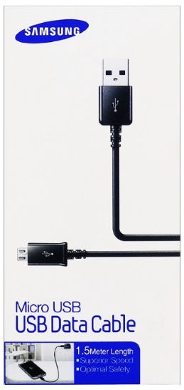Samsung Universal Micro USB Data/Charger Cable 1.5m Black Blister