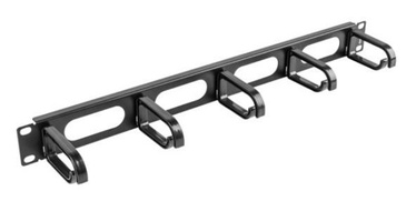 Lanberg 19'' Cable Management 1U Black