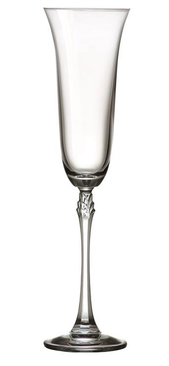 Šampanieša glāze Bohemia Royal Crystal Fuchsia, 0.2 l, 6 gab.