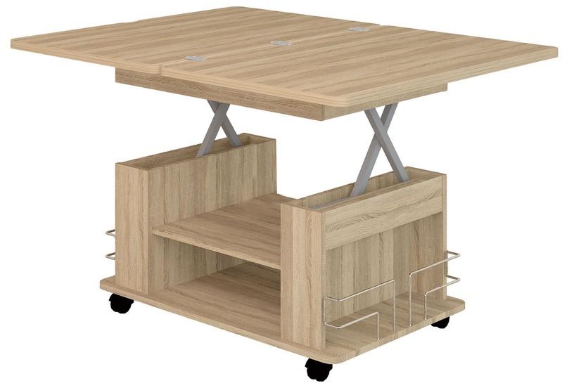 Kafijas galdiņš DaVita Agat 23 Sonoma Oak, 900 - 1200x600x550 - 770 mm