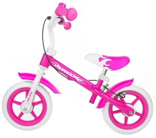 Velosipēds Milly Mally Dragon Balance Bike With Brakes Pink 0160
