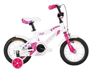 """Bērnu velosipēds Kross Maya 12"""" White Pink Violet Glossy 18"""