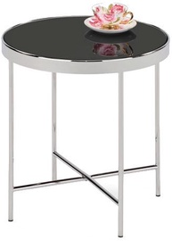 Kafijas galdiņš Signal Meble Gina C Black/Chrome, 430x430x450 mm