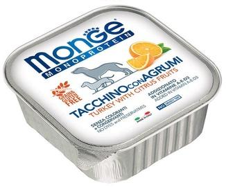 Влажный корм для собак (консервы) Monge Monoproteinic Fruits Pate Turkey/Citrus 150g