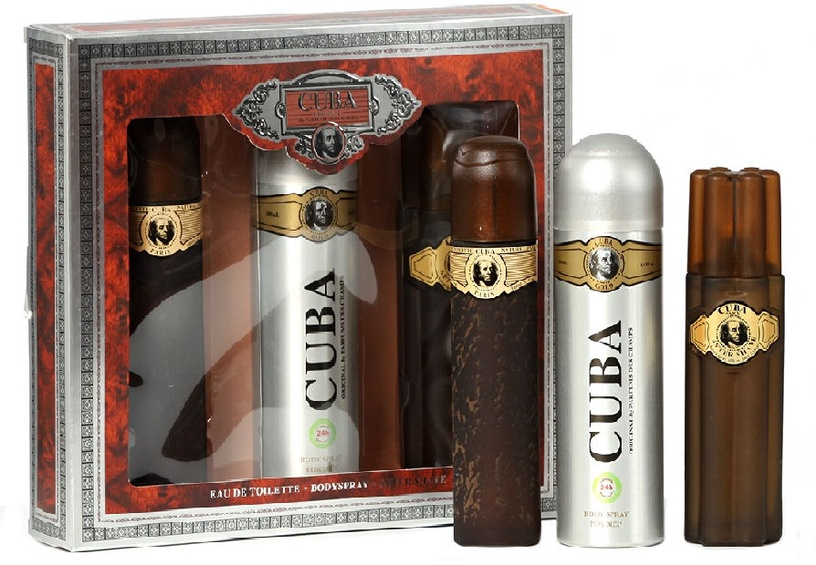 Cuba Gold 100ml EDT + 100ml Aftershave Lotion + 200ml Deodorant