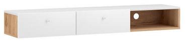 ТВ стол Vivaldi Meble Tulia, белый/дубовый, 1400x300x180 мм