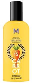 Mediterraneo Sun Carrot Sunscreen Dark Tanning Lotion SPF15 100ml
