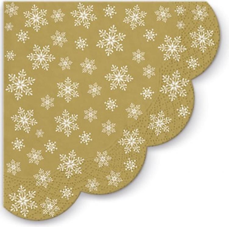 Paw Decor Collection Stars Eveywhere Napkins Gold D32cm