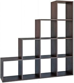 Plaukts Top E Shop Step RS-40, brūna, 153x30x153 cm