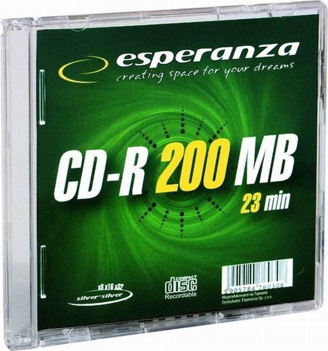 Esperanza 2081 CD-R 32x 200MB Slim Jewel Case