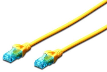 Digitus CAT 5e UTP Patch Cable Yellow 0.25m