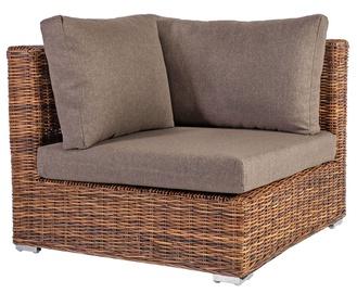 Садовый диван Home4you Croco, коричневый, 93 см x 93 см x 73 см
