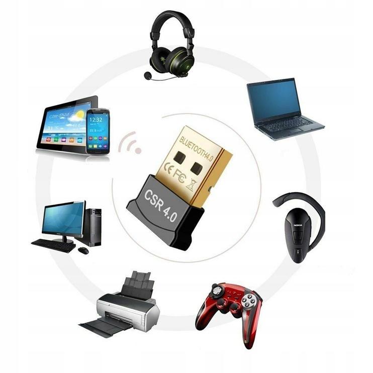 Адаптер Savio Adapter USB Bluetooth 4.0 Black