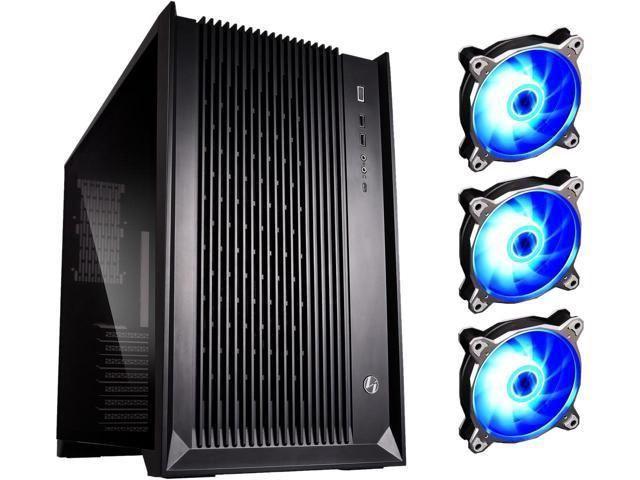 Lian Li PC-O11AIR RGB Mid Tower eATX Black + 3 RGB Fans