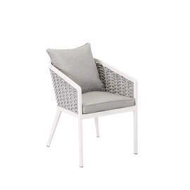 Home4you Marie Garden Chair White/Grey