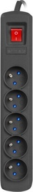Pagarinātājs Armac R5 Protecting Power Strip 1.5m Black