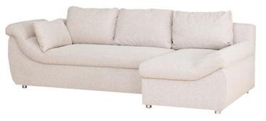 Stūra dīvāns Bodzio Rojal Latte, labais, 258 x 145 x 73 cm