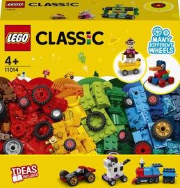 Конструктор LEGO Classic Кубики и колёса 11014, 653 шт.