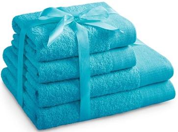 Полотенце AmeliaHome Amari 23894 Turquoise, 70x140 см, 4 шт.