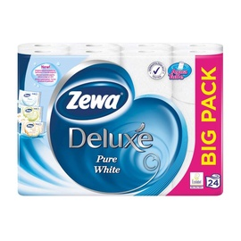 Zewa Deluxe Pure White Toilet Paper 24pcs