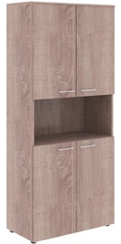Skyland Wave WHC 85.4 Office Shelf 856x1949x4323mm Sonoma Oak