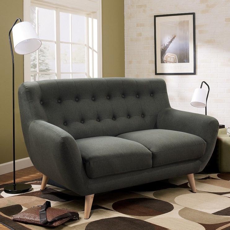 Dīvāns Home4you Rihanna 2 Grey, 140 x 84 x 87 cm