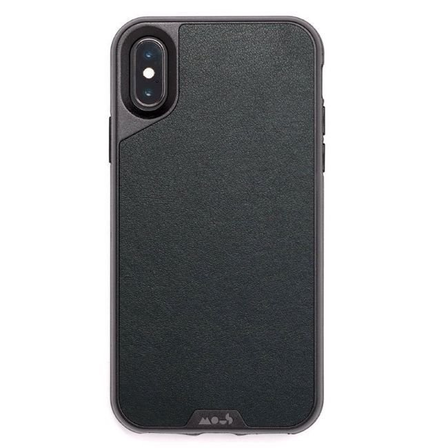 Mous Air-Shock Back Case For Apple iPhone X/XS Leather Black