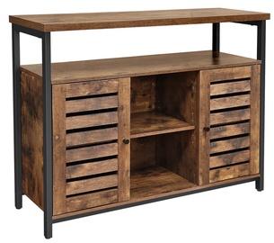 Шкаф Songmics, коричневый/черный, 100x35x80 см