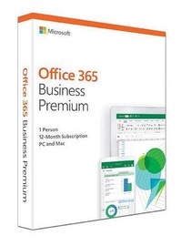 Microsoft Office 365 Business Premium 1-Year EuroZone English Medialess Box