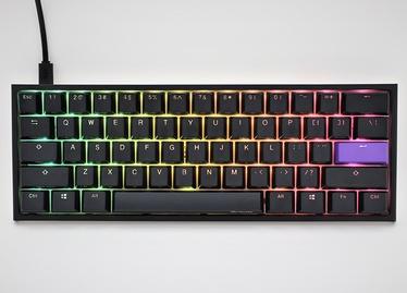 Klaviatūra Ducky One 2 Mini RGB Cherry MX Brown EN, balta/melna