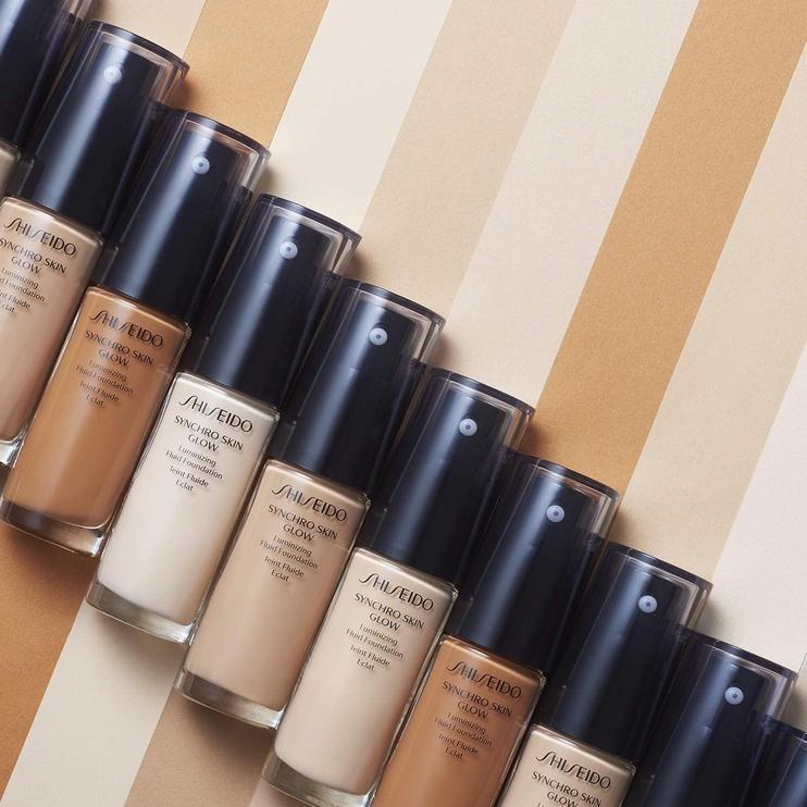 Tonizējošais krēms Shiseido Synchro Skin Glow Luminizing Fluid Foundation SPF20 N1 Natural, 30 ml