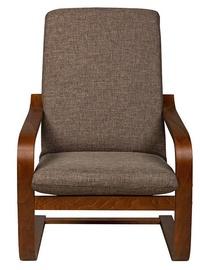 Atzveltnes krēsls Black Red White Ania Brown, 67x74x100 cm