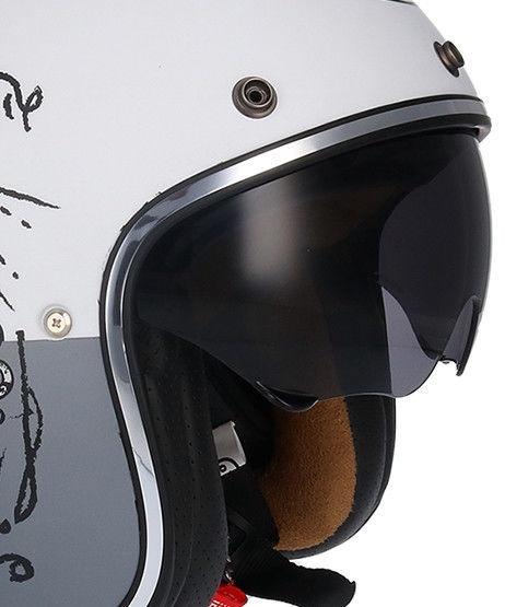 Shiro Helmet SH-235 Born Matt White L