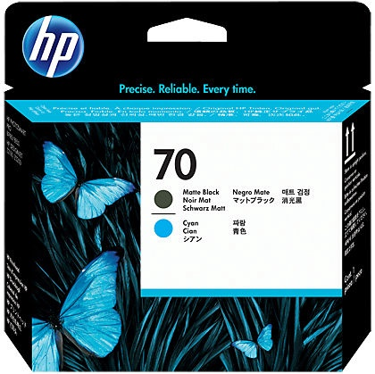 HP 70 Printhead Matte Black And Cyan
